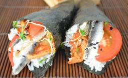 Kimchee, Tomato, and Anchovy Hand Rolls Recipe